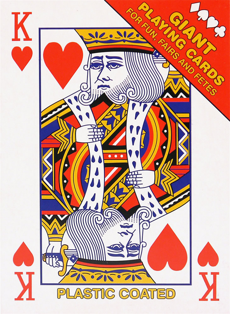 Giant A4 Size Playing Cards