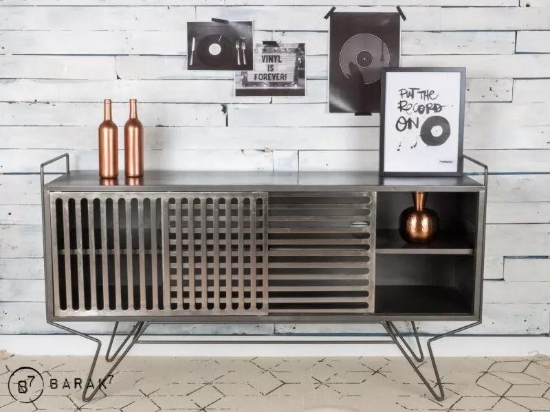 meuble tv metal sixties design