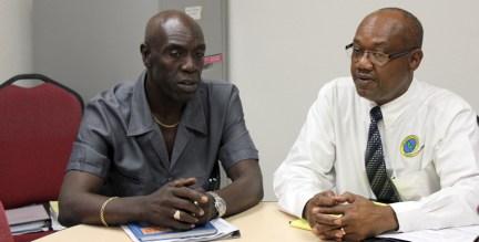 CTUSAB leaders Dennis De Peiza and Cedric Murrell.
