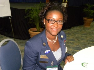 Incoming President of the Office Professionals Association, Alicia Graham.