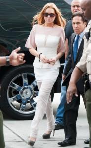 Lindsay Lohan heading into court.