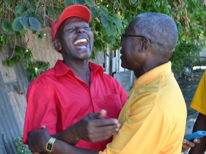 Haynesley Benn (right) and Mackie Holder during just concluded campaign.