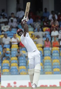 Captain Darren Sammy blasted a vital half-century to give West Indies an important lead.