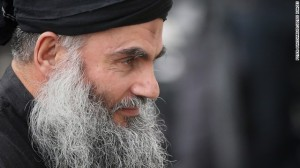 Muslim Cleric Abu Qatada arrives home after being released from prison on November 13, 2012 in London, England.
