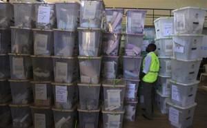 Stored ballot boxes in Kenya.