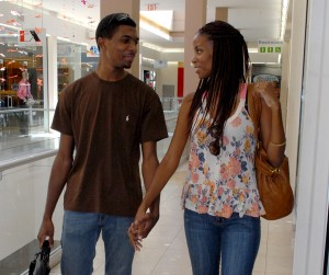 Cobham with fiancé Sheré King.