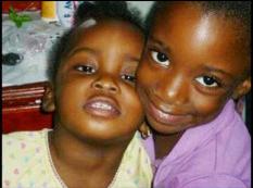 Sisters Gabrielle and Arielle Thomas.