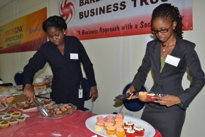 Lisa Banfield and Juel Hunte of Tenacity Marketing displayed some of their products.