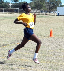 Emerging talent from Ellerslie Toriann Alleyne won both the Under-15 100m and 200m in convincing style.