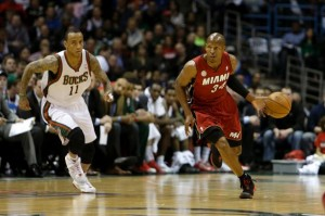 Ray Allen (right) broke NBA play-off record last night.
