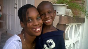 Samantha and her son Malachi.