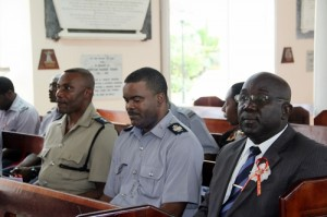 Members of the RBPF. (l-r) Inspector Ronald Stanford, Station Sergeant Rodney Inniss and Station Sergeant Keith Belle.