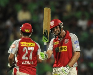 The Caribbean-bound Adam Gilchrist (right) hit his highest score of the 2013 IPL season today.