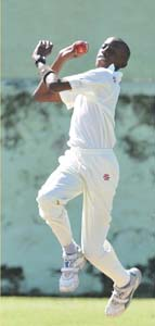 Shamar Springer starred with bat and ball for Carlton Juniors.