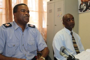 Station Sergeant Rodney Inniss and Inspector David Welch