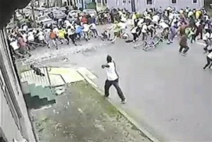 Suspect shoots at crowd during New Orleans parade.
