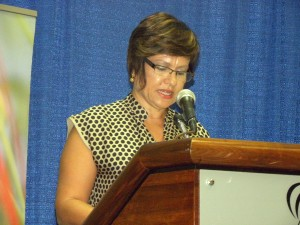 President of the Barbados Hotel and Tourism Association, Patricia Affonso-Daas.