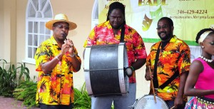 The Tuk Bank, an aspect of Barbadian heritage, was showcased at the launch of the 7th Caribbean Secondary Schools' Drama Festival.