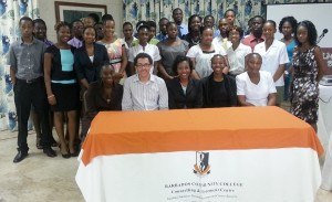 BCC Summer Interns with Faylene Nurse, Job Placement Officer (seated third left).
