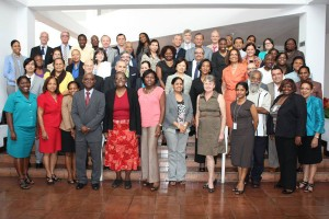 Regional and international partners at the UNAIDS and PEPFAR Caribbean Meeting on Strategic HIV Investment and Sustainable Financing.