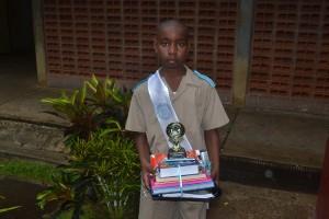 Valedictorian of the St. Joseph Primary School, Rajahni Marshall.