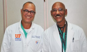 Chief of the Division of Paediatric Cardiology at the University of Florida, Dr. Jose A. Ettedgui and Dr. Richard Ishmael.