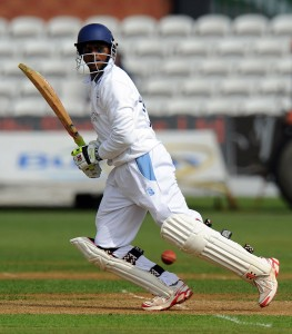 Shivnarine Chanderpaul piling up the runs for Derbyshire.