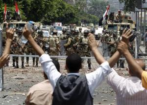 Protests in Cairo streets.