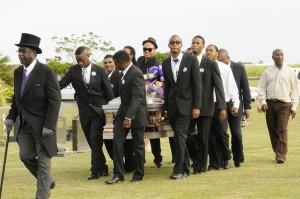 James Wilson leads the casket.