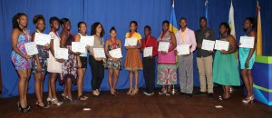 Winners of the local and Caribbean junior challenge competitions.