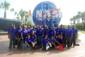 Students, teachers and Sagicor staff on their visit to the Kennedy Space Centre and the National Aeronautics and Space Administration.