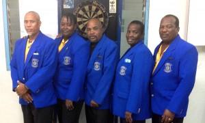 Members of the Barbados darts team.