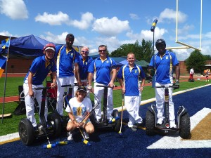 The Barbados Segway Polo team in Washington – (from left) James de Gale, Nevin Roach, Brett deGale, Brett Callaghan, Ralph Luther and David Eastmond.