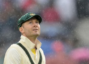 With every drop of rain that fell, Michael Clarke's victory push was further dampened.