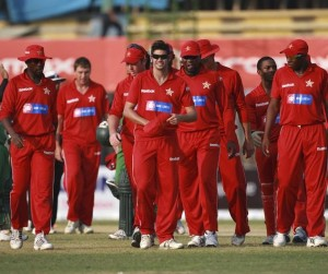 Some members of the Zimbabwe cricket team.