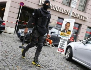 A German police officer in full gear.