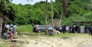 The bushy area where the drugs were found.