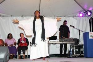 Sandra Nicholls' dance was riveting.