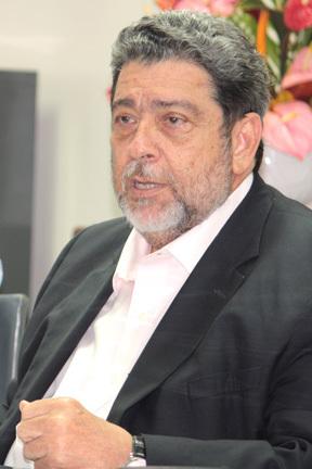 St Vincent's prime minister Dr Ralph Gonsalves