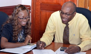 RDC's Randolph Outram and Wendy Burke.