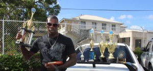 Ronald Als with his many awards as he was awarded Best Recruit among others.