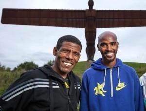 Haile Gebrselassie (left) and Mo Farah.