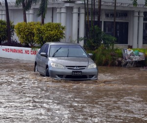 Today, it would have taken a boat to travel on the streets in St James