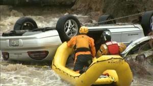 A daring rescue in progress.