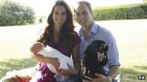 The Duke and Duches of Cambridge and Prince George.