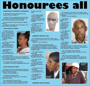 honourees