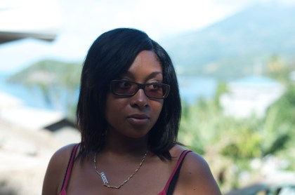 Nolisha Miller reflecting how she received the tragic news that five of her family members at Rose Bank, St Vincent perished in last Christmas' flooding and landslides.