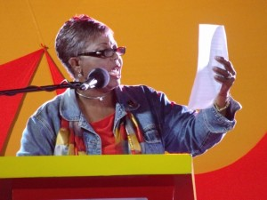 Cynthia Forde speaking at BLP meeting last night.