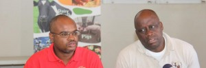 Speaking on upcoming Agrofest weekend, Agrofest coordinator Thedor Fraser (left) and BAS chief James Paul.