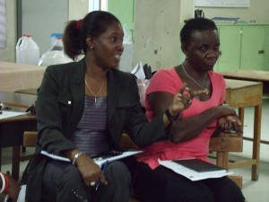 A parent makes a point during the St Paul's Primary PTA meeting last night.